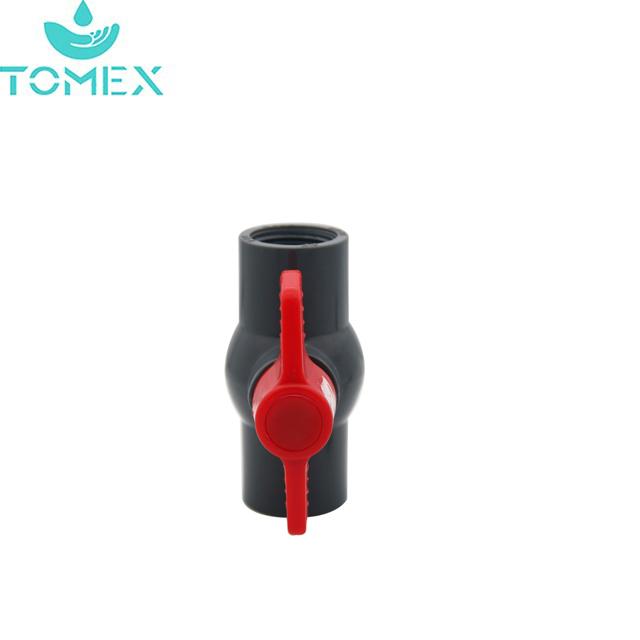 Высокое качество PN10 ПВХ компактный шаровой кран для орошения