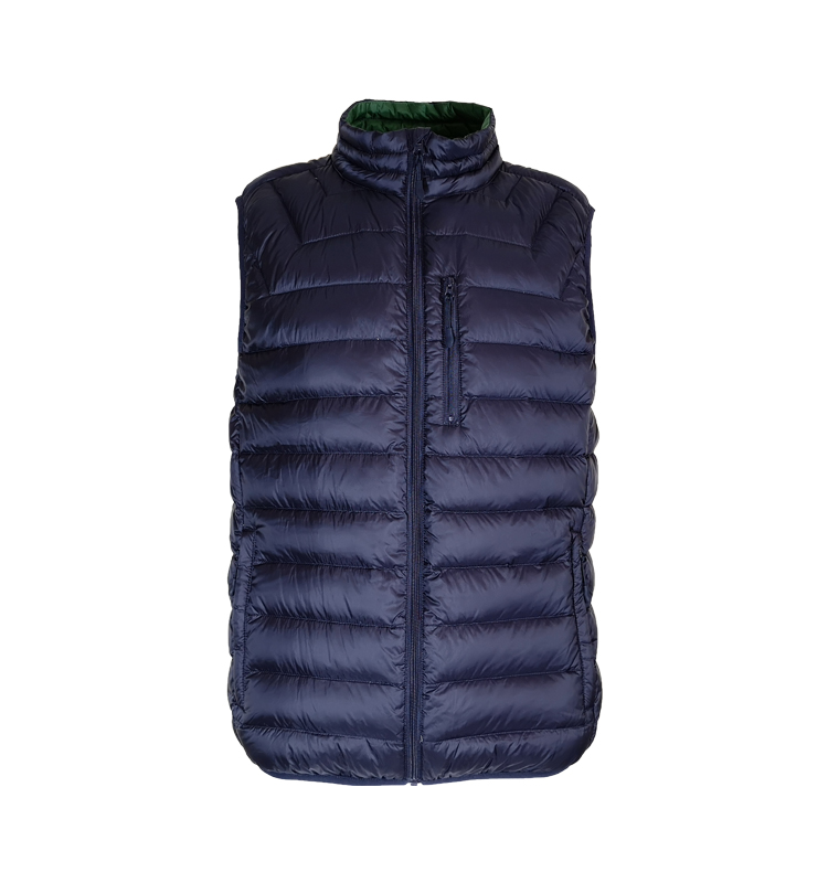 BSCI Fabriek Packable mannen Lichtgewicht Winter Eendendons Vest Outdoor Puffer Vest Met Pocket
