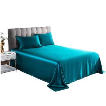 Wholesale hot selling luxury pure silk bedsheet set 100 % natural silk bed sheets for home hotel use