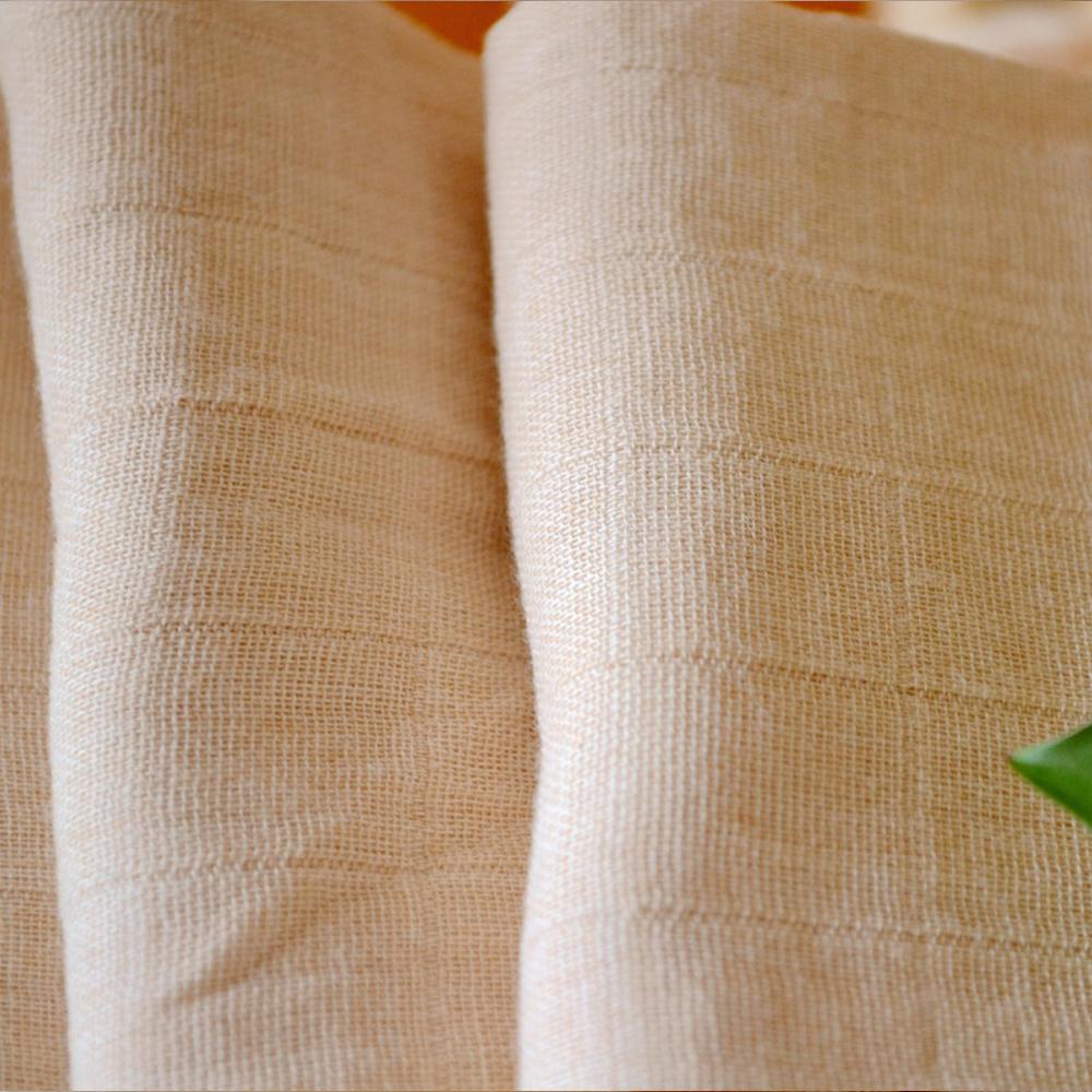 two layers gauze 100% organic cotton textile