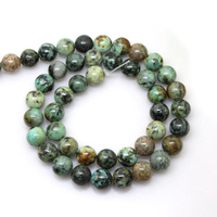 4/6/8/10mm Wholesale High Quality Genuine Natural 4mm-12mm Gemstone Beads African Turquoise Beads