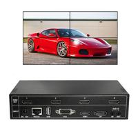 2X2 HDMI video wall controller 4 TV USB 2x2 1X2 1X3 1X4 3x2 4K Flowvia VGA TV video Wall controller