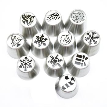 Russian Piping Icing Nozzles Tips stainless steel Cake Decorating Tips Set Christmas Cupcake Supplies Kit Pastry Tip Set