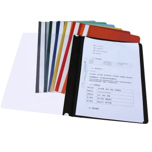 Simple design PVC office report A4 paper types of plastic file folder 2 hole document storage file folders