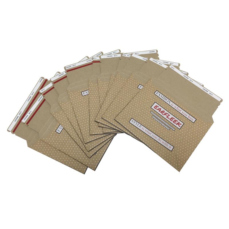 Custom cardboard rigid envelope shipping mailing bags paper envelope