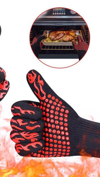 Sunshine extreme耐熱バーベキューバーベキューノンスリップシリコーングリル手袋