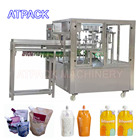 Automatic Spout Pouch Filling And Capping Machine For Liquid Jelly Milk Water Rotary Type