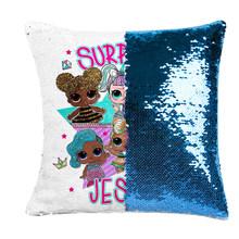 LOL сюрприз куклы конфетти наволочки с пайетками Lol Кукла мультфильм аниме крытый диван подушка с блестками наволочка куклы для девочек(Китай)