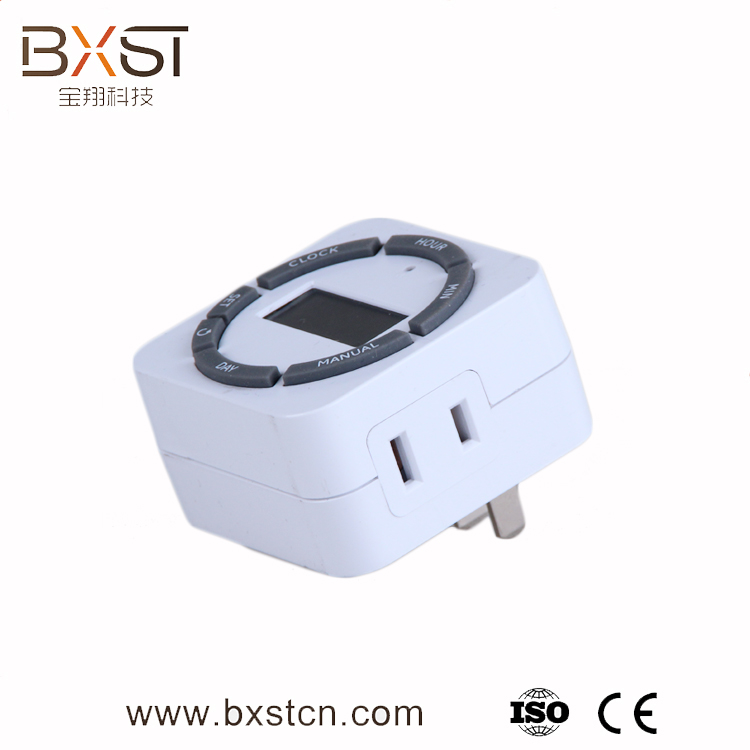BX-T002 Mechanical Simple Home Appliance Electrical Socket Timer, LED Operation Timer Plug Socket