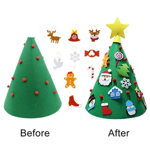 High quality custom DIY decorations felt christmas tree sets for kids gifts