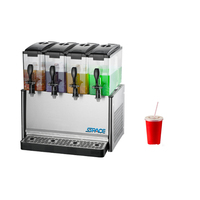 Commercial cooler fruit juice mixing 4 tanks 12L*4 cooling drink dispenser