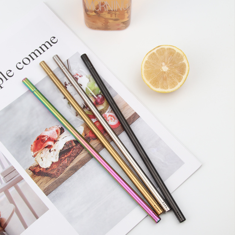stainless steel drinking filtration flower tea drink straw