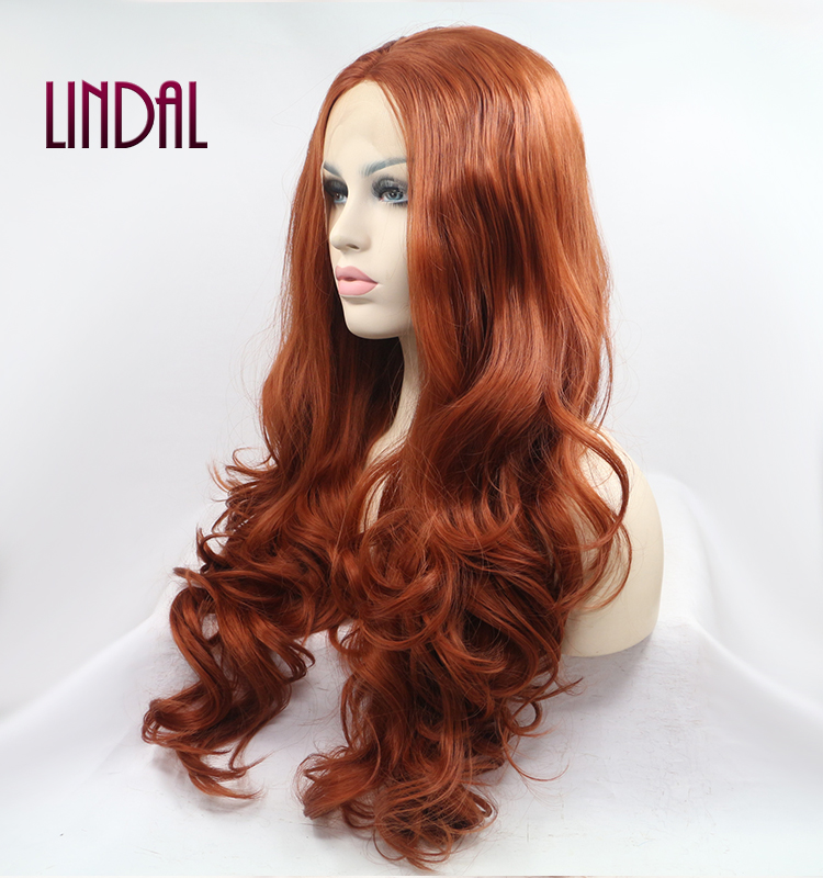LINDAL handtied fiber cheap closure body deep water wavy wave lacefront long <strong>synthetic</strong> <strong>wig</strong> for ladies