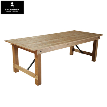 Hot Sell High Quality vintage solid wood folding farm table