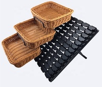 Supermarket plastic bread rattan basket and pp wicker basket Malaysia for fruit display