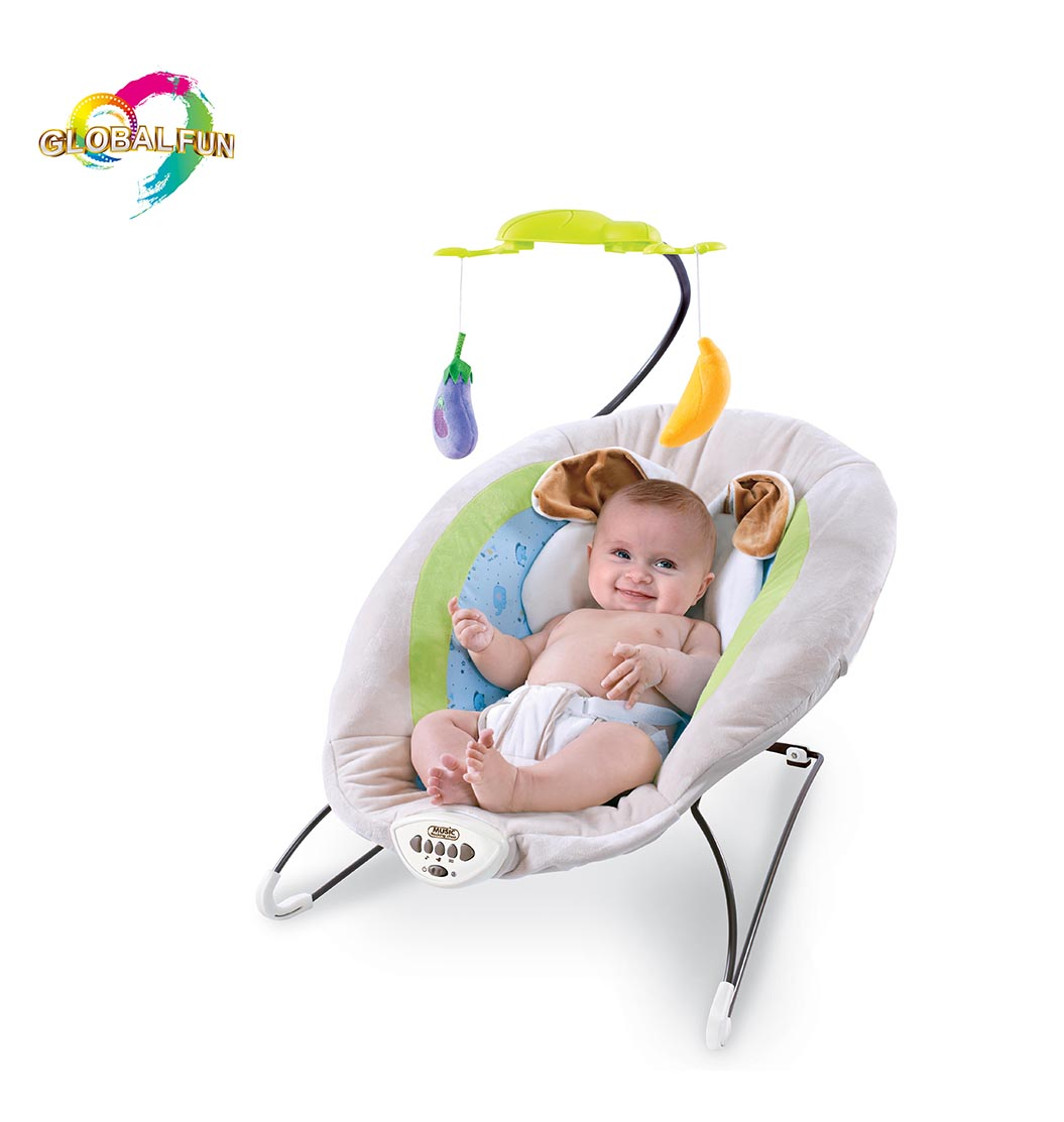 Hot sale baby rocking chair rabbit music rocking chair multi-function bouncing and vibrating chair