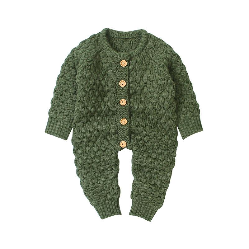 ใหม่ฤดูใบไม้ผลิ 2020 เสื้อผ้าเด็กทารกทารกแรกเกิด jumpsuit ถักเสื้อกันหนาวเด็กสาว Rompers