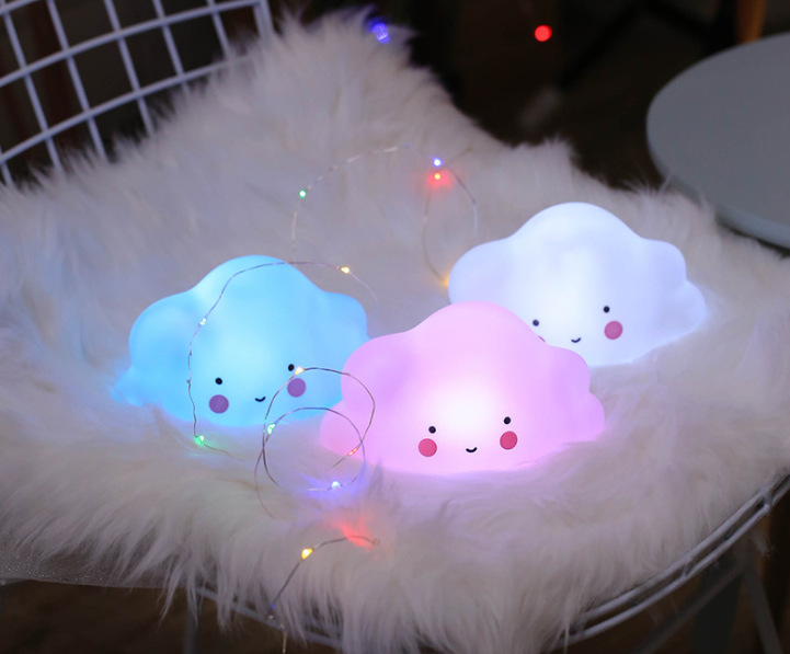 vinyl night light  Battery Operated mini cloud shape lovely baby gift