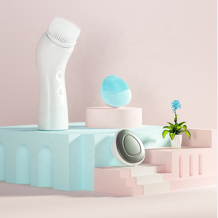 Waterproof Electric Facial & Body Cleansing Brush Exfoliating Kit with Handle and Brush Heads - Best Advanced Spin Brush