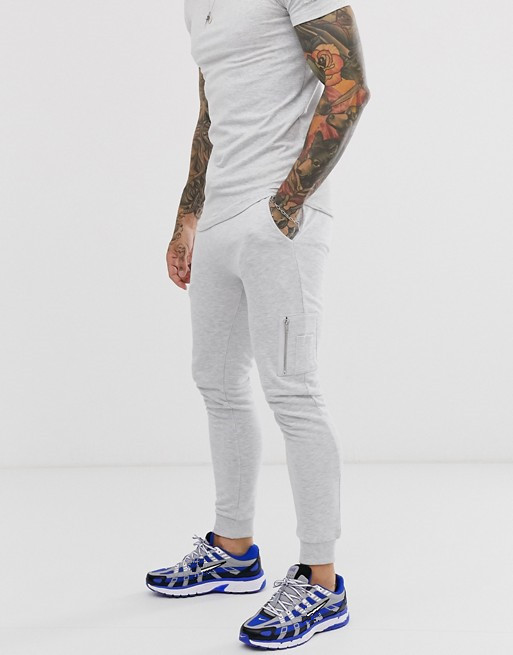 KY white skinny slim tracksuit longline t-shirt stretch fitted cuffs curved hem MA1 pocket joggers co-ord no name track suits