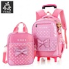 3pcs/set Girl Trolley Case 3d Child School Bag Kids 6-15 Years Students Suitcase Free Doll Waterproof Backpack Travel Luggage
