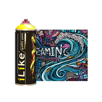 ILIKE 400ml Acrylic Aerosol Graffiti Spray Paint