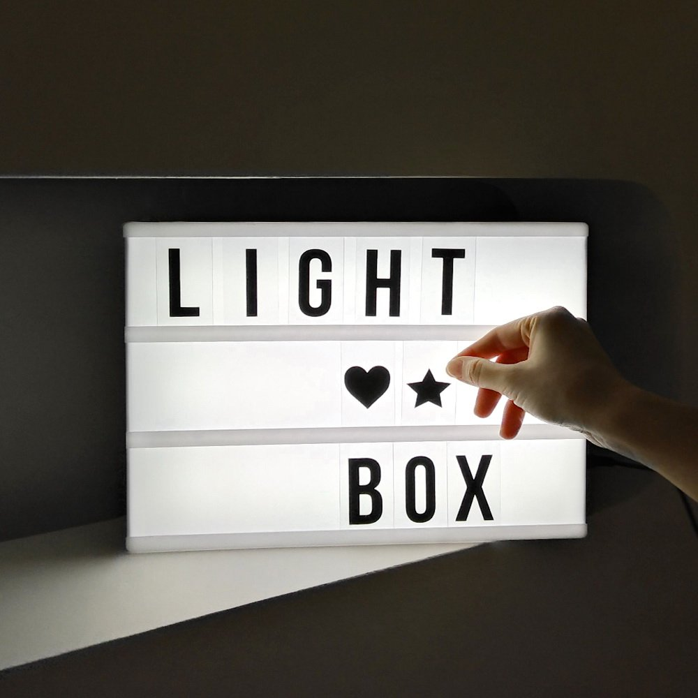 wholesale battery powered mini led custom a4 light box for gifts wedding favor