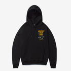 Wholesale Custom Screen Print Mens Streetwear Black Hoodies Sweatshirts