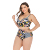 Good quality cheap women's plus size slimming bathing suits tops with underwire