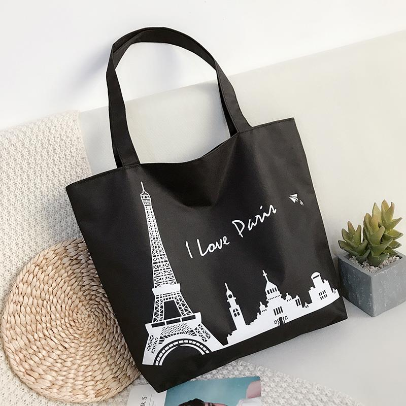 Newest custom good quality natural Canvas Beach Tote Bag Simple Women Tote Handbag