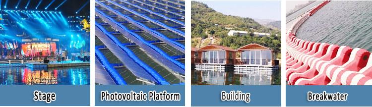 Günstigen preise marine HDPE kunststoff tragbare pontons plattform dock für verkauf