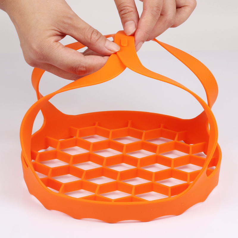 Silicone Cooker Sling Pressure Cooker Bakeware Sling Egg Rack Silicone Lifter Roasting Rack