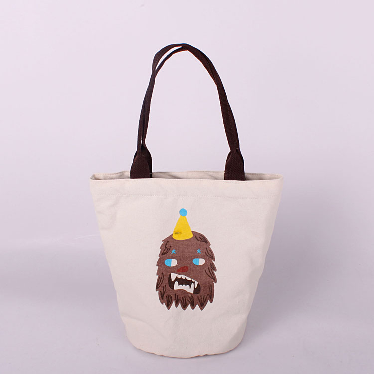 Little bear wholesale canvas soft folding tote bag shopping bags