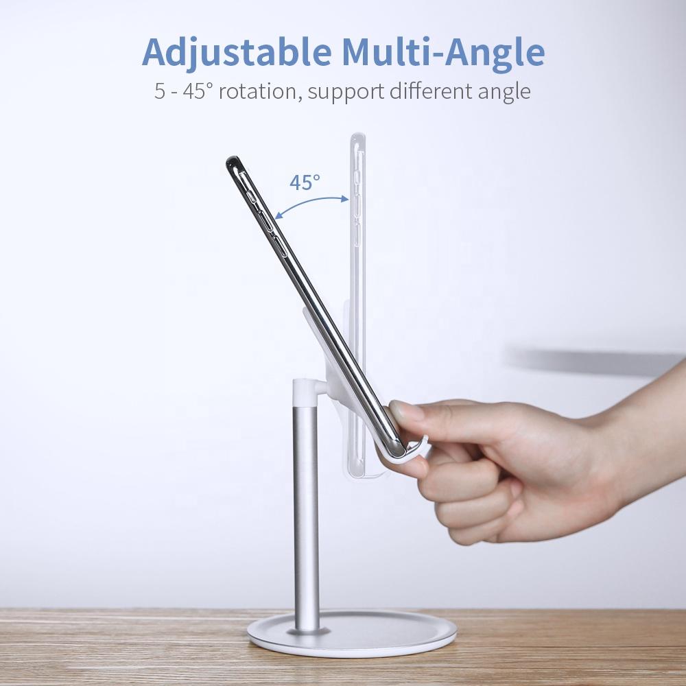 Free Shipping RAXFLY Universal Anti-Slip Desktop Adjustable Phone Holder For iPad Desk Aluminium Alloy Tablet Stand