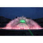Interactive water screens projection fountains