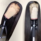 Free shipping Human Hair Wigs Virgin Brazilian Wigs Human Hair 100% Unprocessed 13x4 Straight Lace Front Wigs for Women
