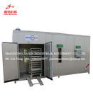 High efficiency natural gas fruit and vegetable washing and drying machine