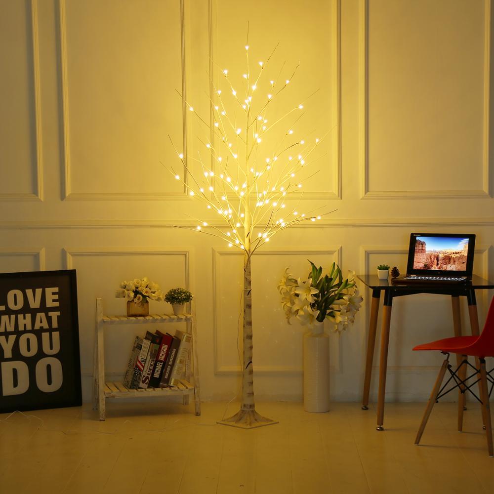 Bolylight LED 6ft96L Birch Tree Hangat-Putih Pohon Natal Lampu Dekorasi untuk Rumah/Kamar Tidur/Pesta/Taman