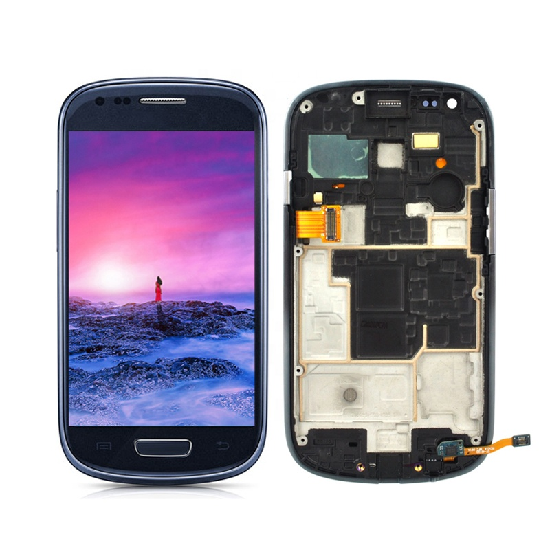 Cell Phone LCD Panels For samsung galaxy <strong>s3</strong> <strong>mini</strong> I8190 Display <strong>Screen</strong> Touch Replacement Display Digitizer Assembly with frame