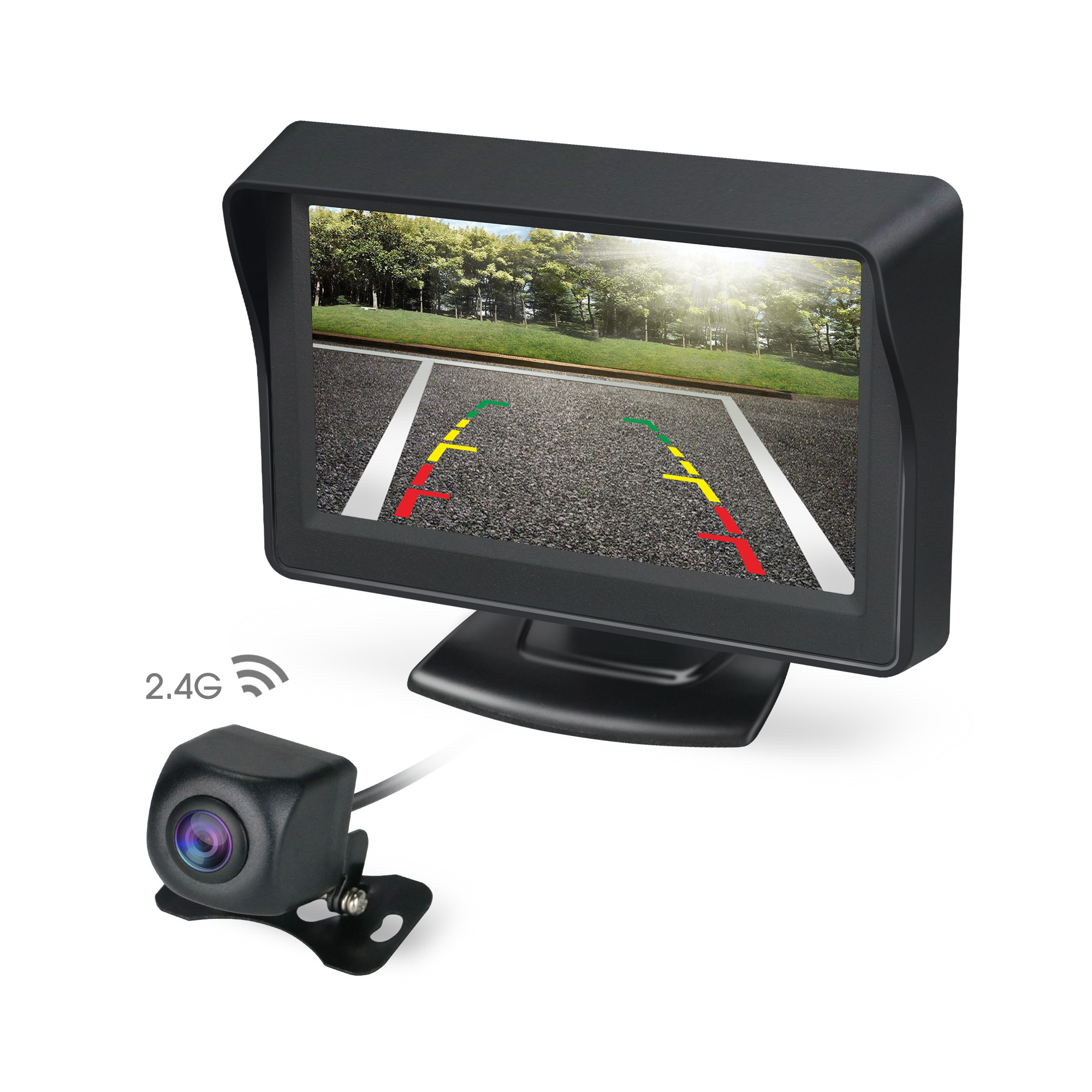 "Wholesale price Wireless 720P reverse camera with 4.3"" HD display for car parking system"