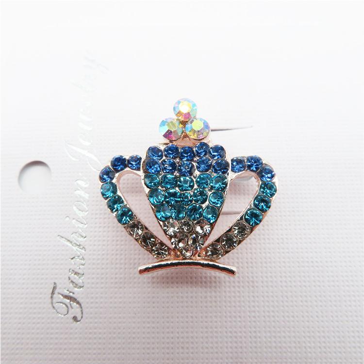 Đẹp chất lượng cao pha lê Shining thời trang cá nhân vương miện trâm pin