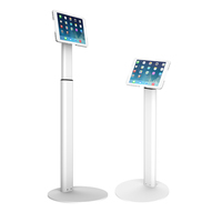 Patent Design Universal Height Adjustable Kiosk Floor Tablet Display Stand for 7'-13' Tablet