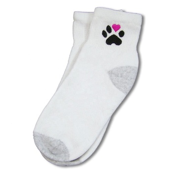 Cotton no show butterfly socks woman fashion japanese embroidery cat paw sublimation sock blank