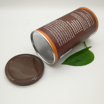 Wholesale PE plastic cardboard tube metal tin coffee can lid for canned food