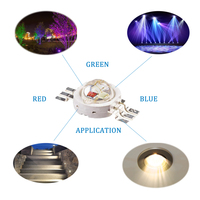 pure copper leadframe 3w rgb led array high power red green blue led chip for led downlight and track lighting