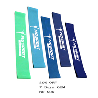 accept custom size Different Colorful Workout Resistance Rubber Stretch Band