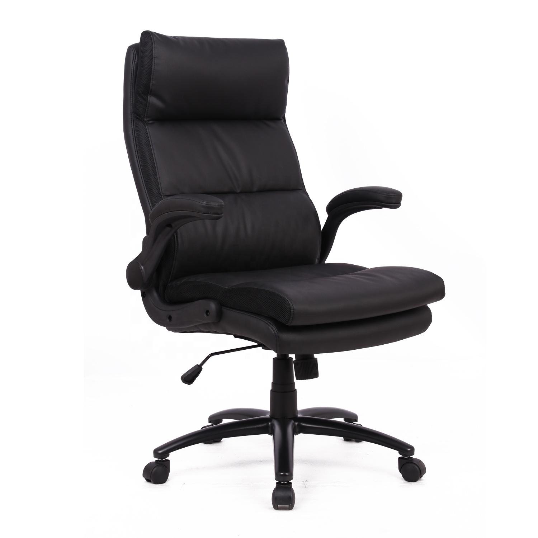 Desain Baru Henglin Merek Komersial Kantor Furniture Nyaman PU Kulit Kursi Kantor Profesional Putar Kursi Eksekutif
