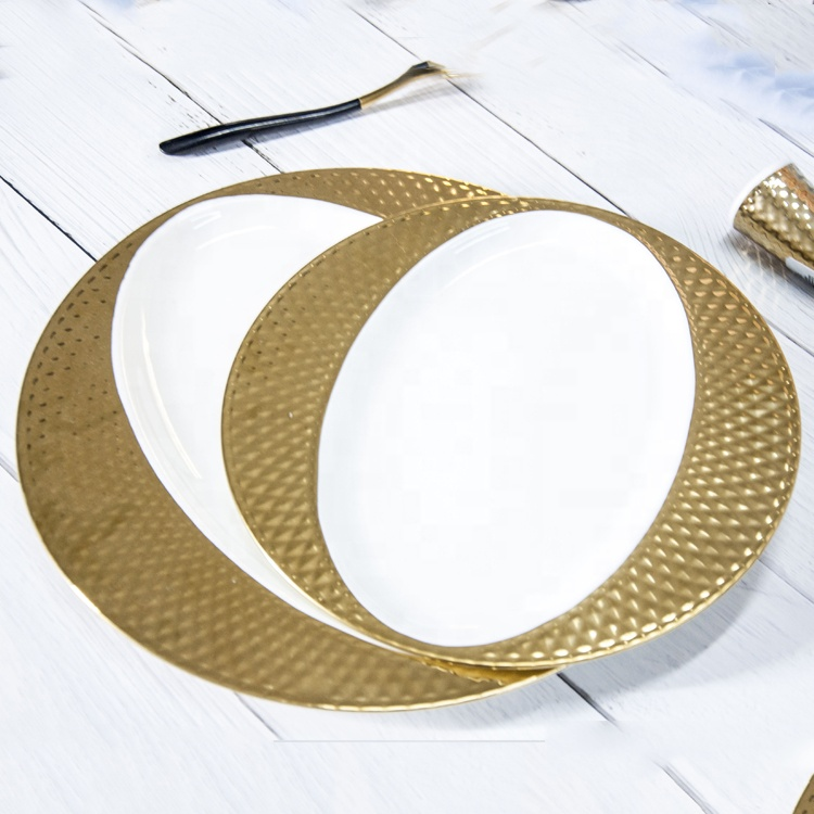 gold charger plates wedding decoration