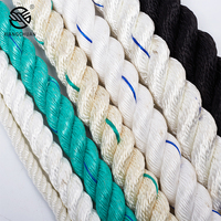 color braided polyamide nylon twisted rope 30mm