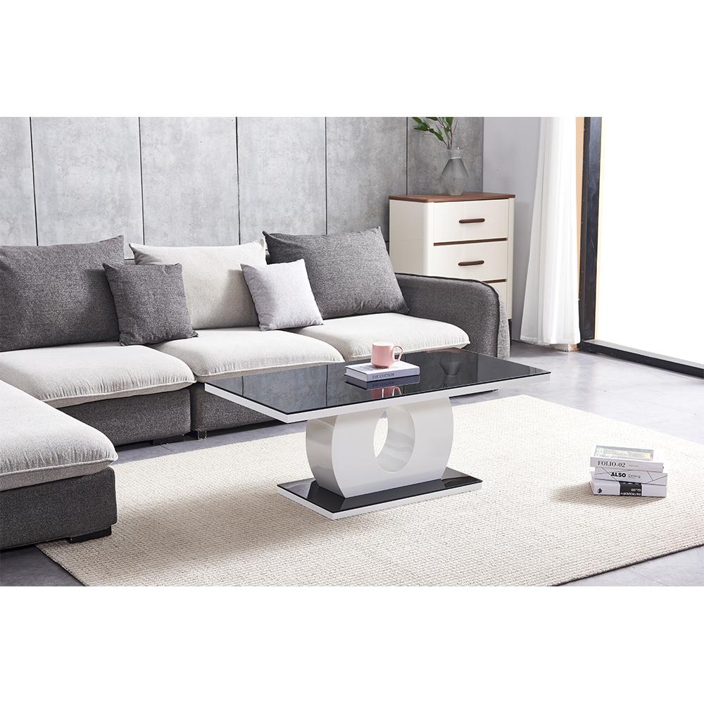 Modern Design High Gloss MDF Wood Hotel Coffee Table
